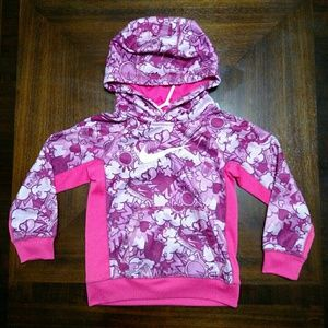 NIKE Girls Therma Fit Pink Hoodie Size 6 EUC
